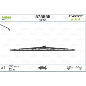 Wiper blades (575555) producer VALEO for FIAT PUNTO (188) year of manufacture 09/1999, 80 HP Online Shop