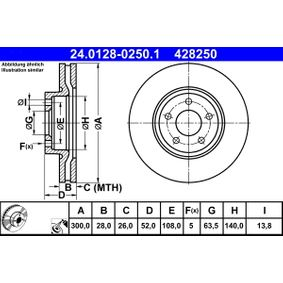 ATE Bremsscheibe (24.0128-0250.1) niedriger Preis