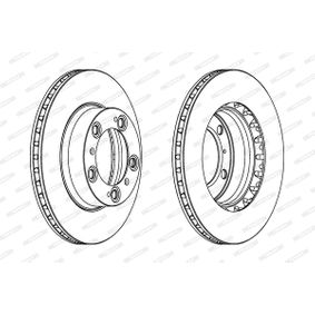 Bremsscheibe FERODO Art.No - DDF1293C-1 OEM: 98635140105 für VW, PORSCHE, LANCIA kaufen