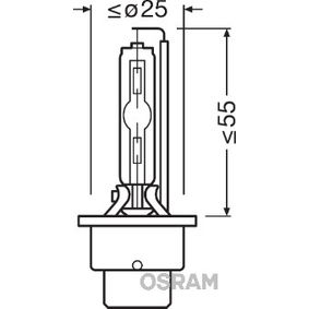 OSRAM Крушка с нагреваема жичка, фар за дълги светлини 66240CLC