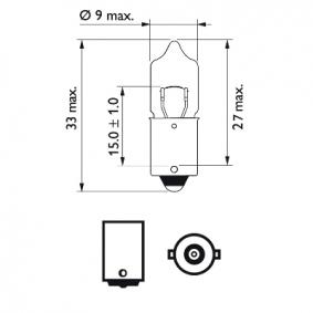 Крушка с нагреваема жичка, светлини купе 12023CP онлайн магазин