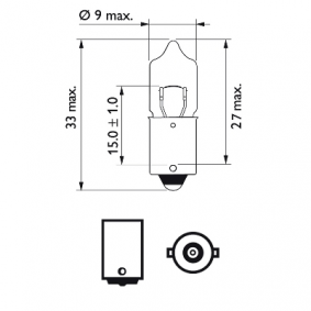 Bulb, interior light 12023CP online shop
