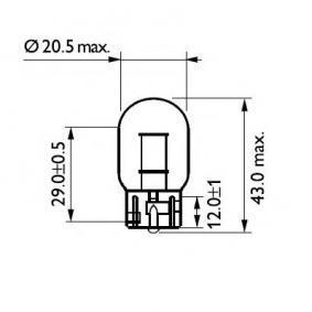 12065CP Glühlampe, Blinkleuchte von PHILIPS Qualitäts Ersatzteile