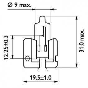 Крушка с нагреваема жичка, фар за дълги светлини 12311C1 онлайн магазин