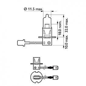 SEAT TOLEDO 2.0 i 16V 150 CV año de fabricación 11.1993 - Lámparapara faros carretera (12336PRB1) PHILIPS Tienda online