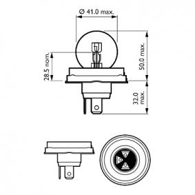 Крушка с нагреваема жичка, фар за дълги светлини 12620B1 онлайн магазин