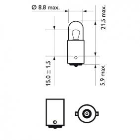 Lâmpada para Luz de Matrícula C5W,C10W, T4W para AUDI 80