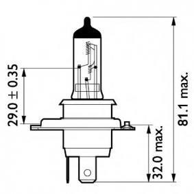 13342MDBVB1 Glühlampe, Fernscheinwerfer von PHILIPS Qualitäts Ersatzteile