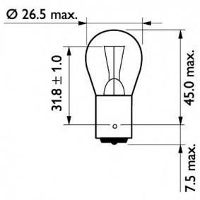 13498B2 Glühlampe, Blinkleuchte von PHILIPS Qualitäts Ersatzteile