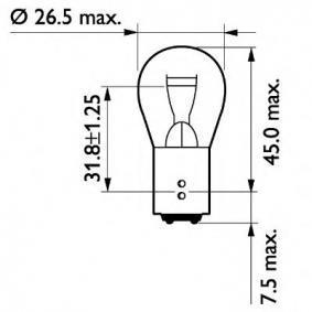 13499CP Крушка с нагреваема жичка, мигачи от PHILIPS качествени части