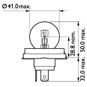 Крушка с нагреваема жичка, фар за дълги светлини 13620C1 онлайн магазин