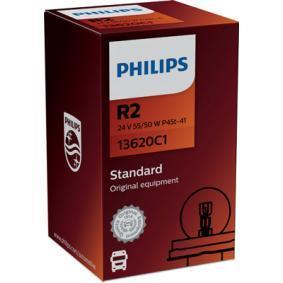13620C1 Крушка с нагреваема жичка, фар за дълги светлини от PHILIPS качествени части