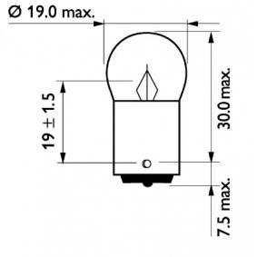 13814MLCP Glühlampe, Kennzeichenleuchte von PHILIPS Qualitäts Ersatzteile