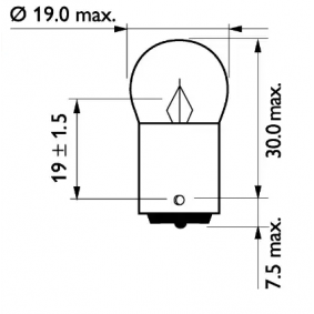 13814MLCP Bulb, licence plate light from PHILIPS quality parts