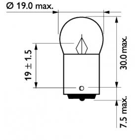 13821B2 Glühlampe, Blinkleuchte von PHILIPS Qualitäts Ersatzteile