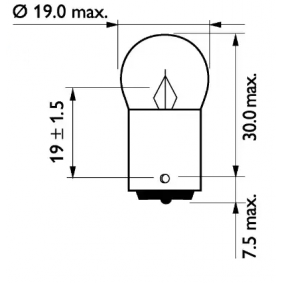 13821B2 Bulb, indicator from PHILIPS quality parts