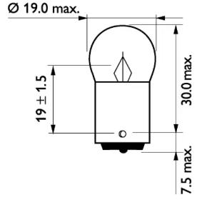 13821CP Glühlampe, Blinkleuchte von PHILIPS Qualitäts Ersatzteile