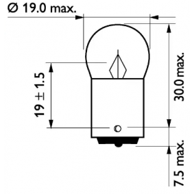 13821CP Bulb, indicator from PHILIPS quality parts