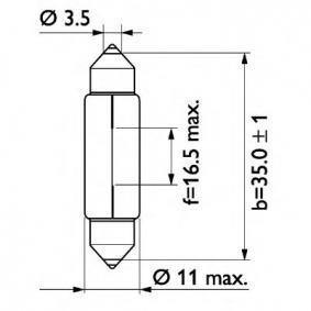 13844CP Крушка с нагреваема жичка, светлини на рег. номер от PHILIPS качествени части