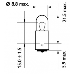 13929MDCP Bulb, indicator from PHILIPS quality parts