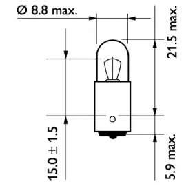13929MLCP Bulb, indicator from PHILIPS quality parts