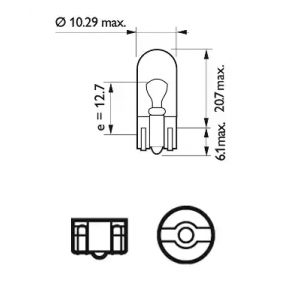 13961CP Bulb, indicator from PHILIPS quality parts