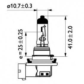 24362MLC1 Glühlampe, Fernscheinwerfer von PHILIPS Qualitäts Ersatzteile