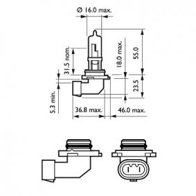 Крушка с нагреваема жичка, фар за дълги светлини 9005PRB1 онлайн магазин
