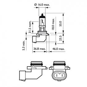 Крушка с нагреваема жичка, фар за дълги светлини 9006PRB1 онлайн магазин