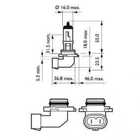 Glühlampe, Fernscheinwerfer 9006PRB1 Online Shop
