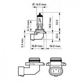 9145C1 Glühlampe, Nebelscheinwerfer von PHILIPS Qualitäts Ersatzteile
