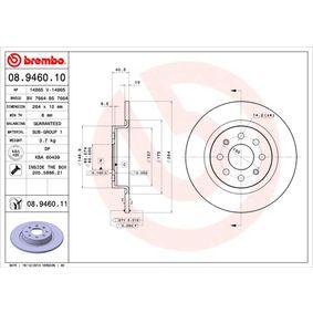 BREMBO FIAT GRANDE PUNTO Sensor de desgaste de pastillas de frenos (08.9460.11)