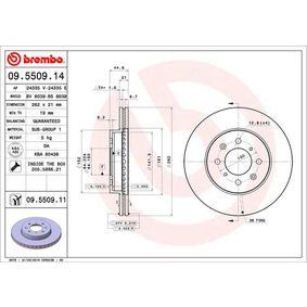 45251SK7A00 за HONDA, LAND ROVER, ROVER, MG, ACURA, Спирачен диск BREMBO (09.5509.11) Онлайн магазин