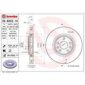Bremsscheibe BREMBO Art.No - 09.B352.11 OEM: 402064155R für RENAULT, NISSAN, RENAULT TRUCKS kaufen