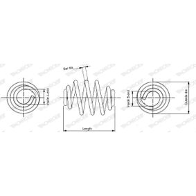 MONROE Fahrwerksfeder (SN2277) niedriger Preis