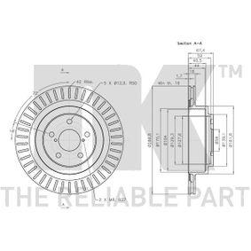 26700AE080 für SUBARU, Bremsscheibe NK (314414) Online-Shop