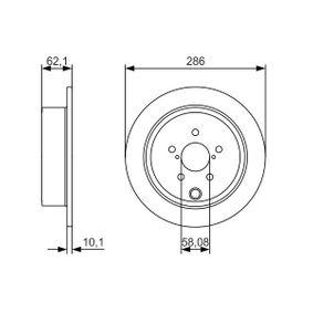 Bremsscheiben (0 986 479 A10) hertseller BOSCH für SUBARU IMPREZA Schrägheck (GR, GH, G3) ab Baujahr 02.2009, 255 PS Online-Shop