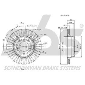 34211162315 für BMW, MINI, Bremsscheibe sbs (1815311535) Online-Shop