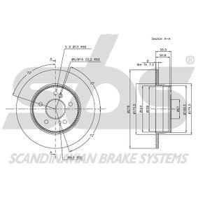 NK Brake Disc Rear Axle, Solid