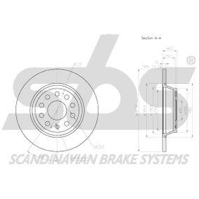 1K0615601AD за VW, AUDI, MAZDA, SKODA, SEAT, Спирачен диск sbs (18153147133) Онлайн магазин