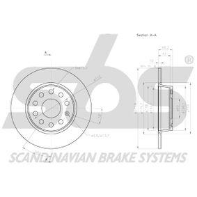 JZW698601AF für VW, AUDI, SKODA, SEAT, HONDA, Bremsscheibe sbs (18153147137) Online-Shop