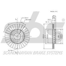 8Z0615301D für VW, AUDI, SKODA, SEAT, SMART, Bremsscheibe sbs (1815314758) Online-Shop