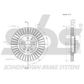 1J0615301P für VW, AUDI, SKODA, SEAT, PORSCHE, Bremsscheibe sbs (1815314759) Online-Shop