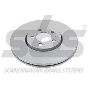 Bremsscheibe sbs Art.No - 1815314760 OEM: 1J0615301C für VW, AUDI, SKODA, SEAT, PORSCHE kaufen