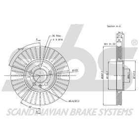 JZW615301D für VW, AUDI, SKODA, SEAT, Bremsscheibe sbs (1815314760) Online-Shop