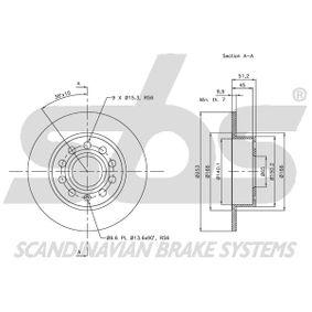1K0615601AB für VW, AUDI, SKODA, MAZDA, SEAT, Bremsscheibe sbs (1815314789) Online-Shop