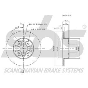 1K0615601L für VW, AUDI, SKODA, SEAT, PORSCHE, Bremsscheibe sbs (1815314794) Online-Shop