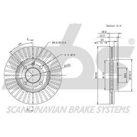 357615301D für VW, AUDI, SKODA, SEAT, Bremsscheibe sbs (1815319934) Online-Shop