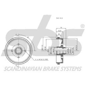 171501615 für VW, AUDI, SKODA, SEAT, PORSCHE, Bremstrommel sbs (1825254708) Online-Shop