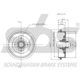 1H0501615A für VW, AUDI, FORD, SKODA, SEAT, Bremstrommel sbs (1825254709) Online-Shop